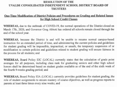 One-Time Modification of District Grading