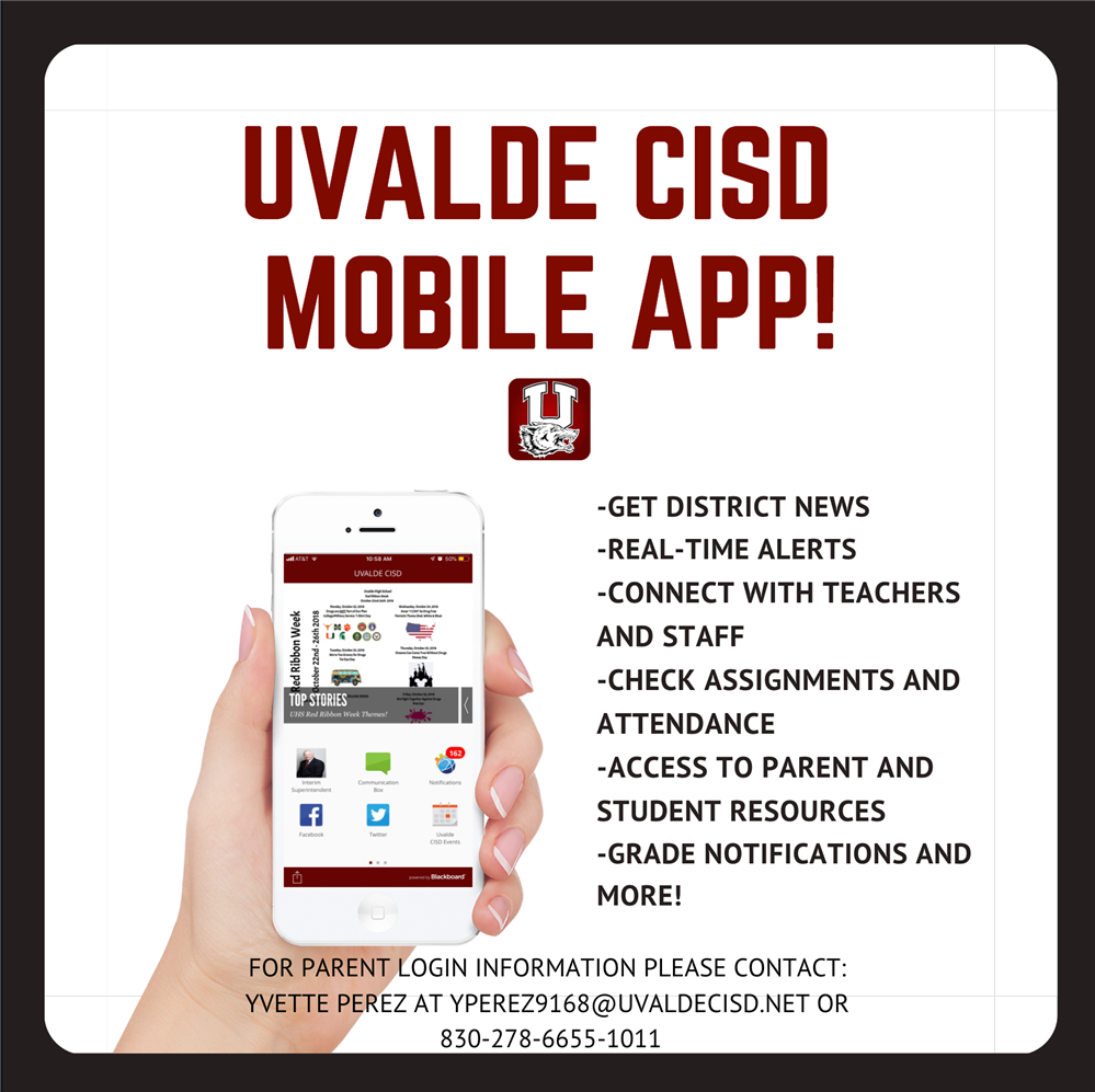 Uvalde CISD Mobile App Login Information