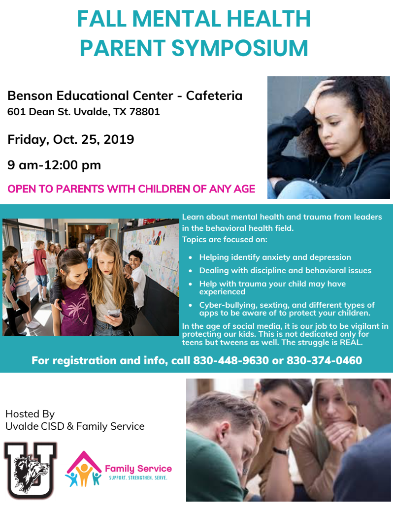 Fall Mental Health Parent Symposium