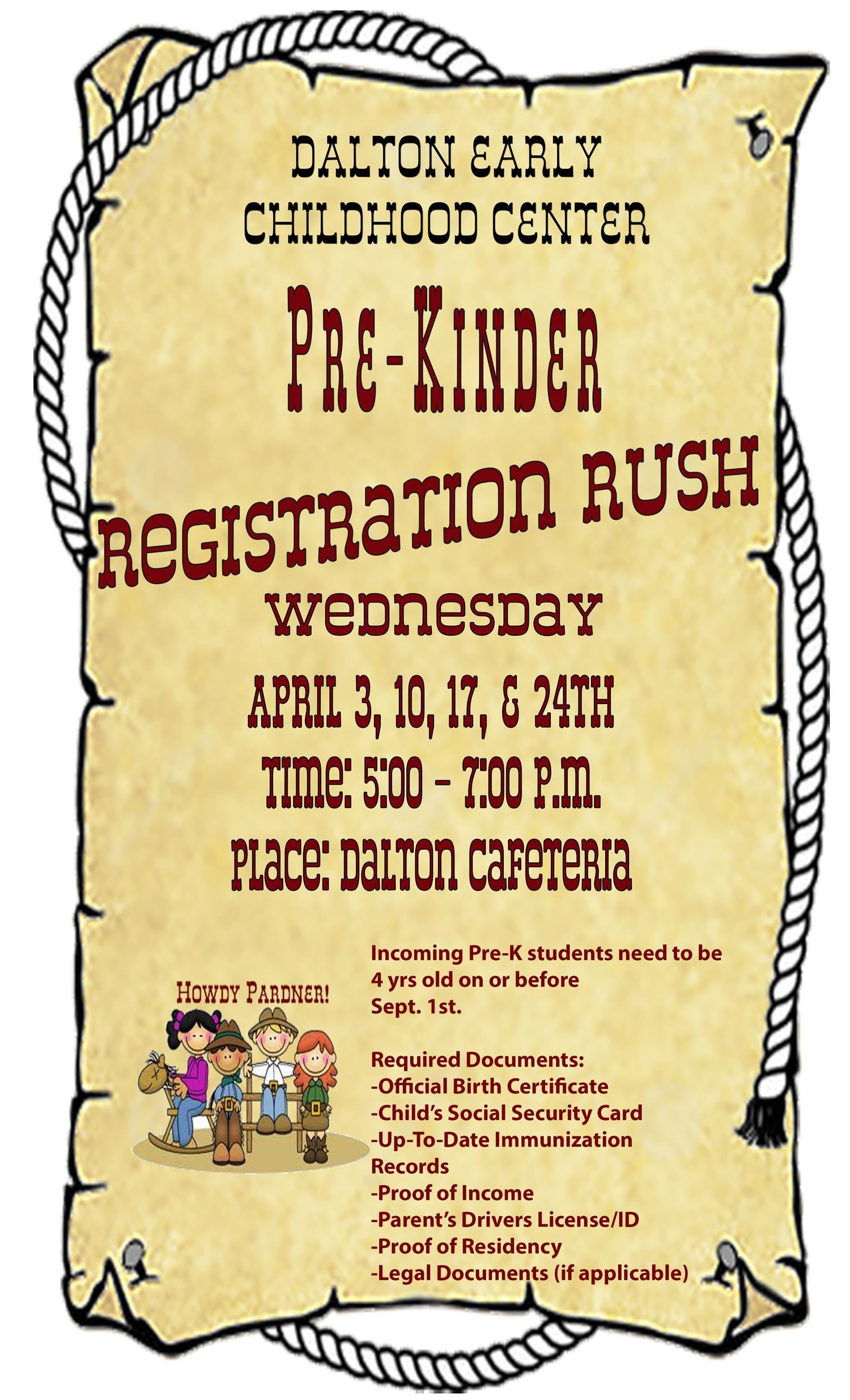 dalton registration rush