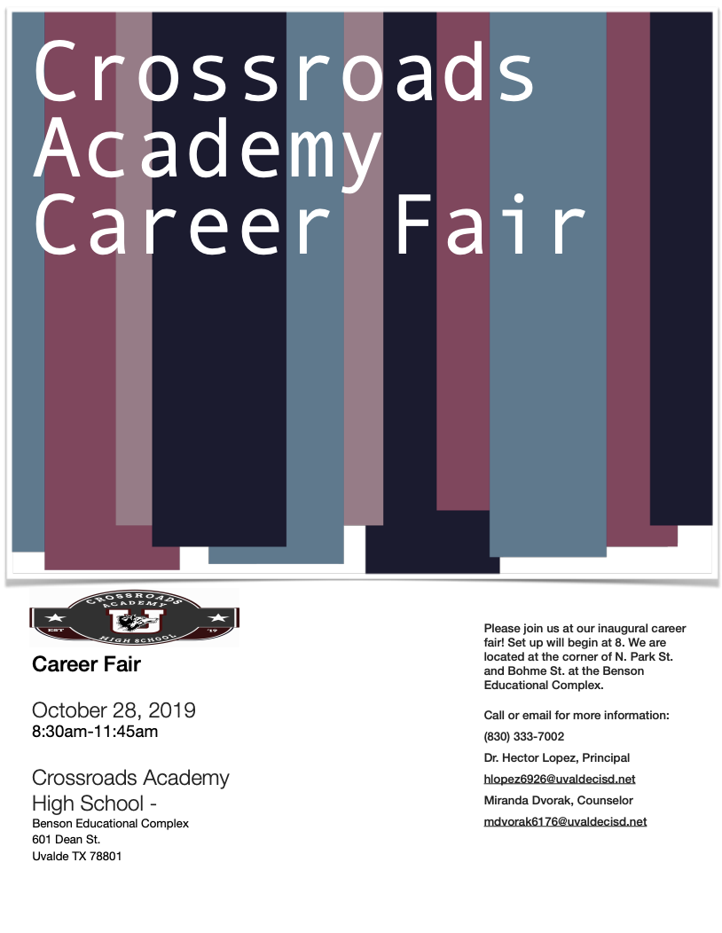Crossroads Academy High School Career Fair
