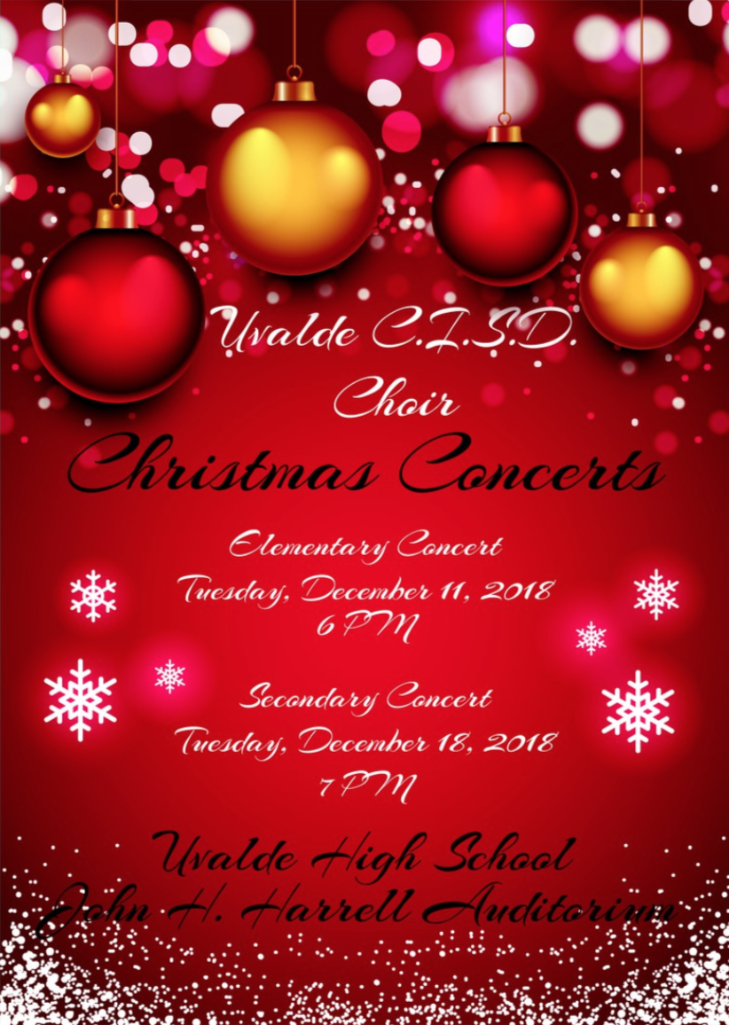 UCISD Elementary/Secondary Christmas Concerts