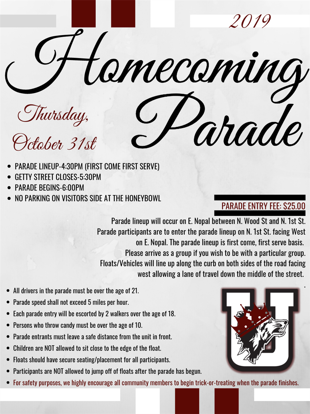 2019 Homecoming Application & Guidelines