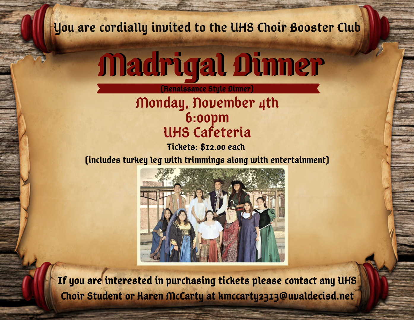 UHS Choir Booster Club: Madrigal Dinner