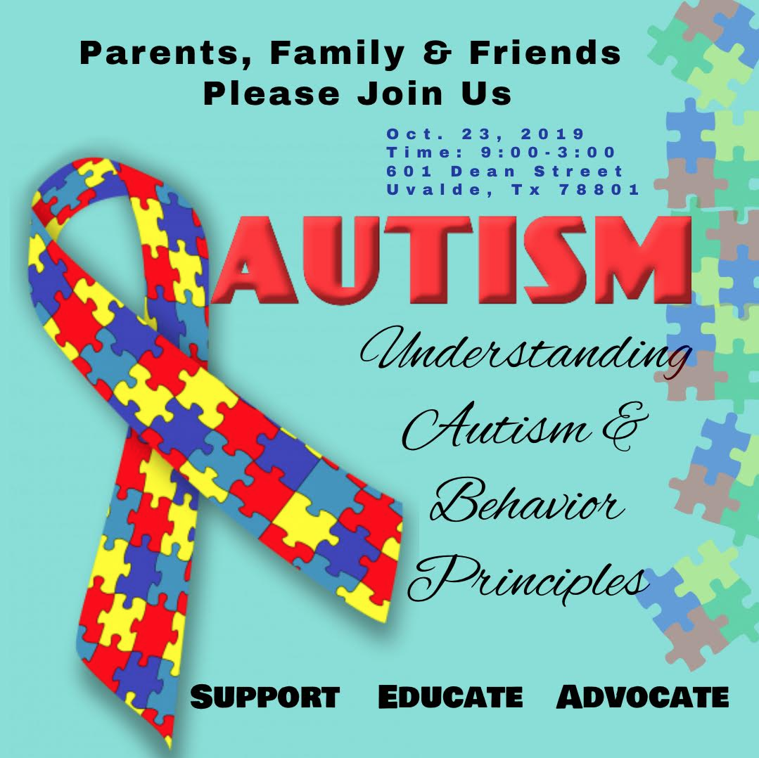 Understanding Autism & Behavior Principles Meeting...October 23rd!