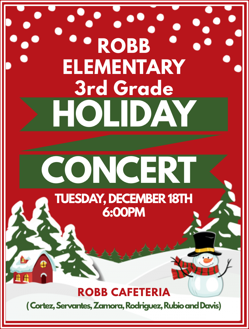 Robb Holiday Concert...Dec. 18th!