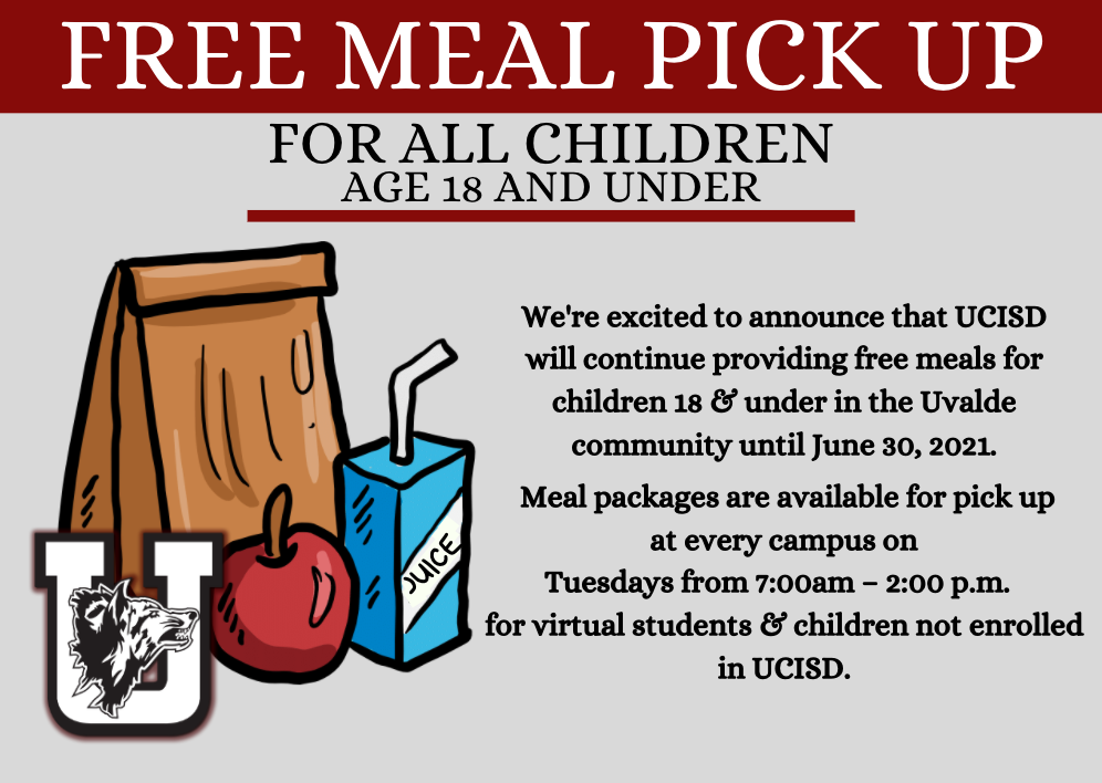 Free Meal Pick Up Every Tuesday!