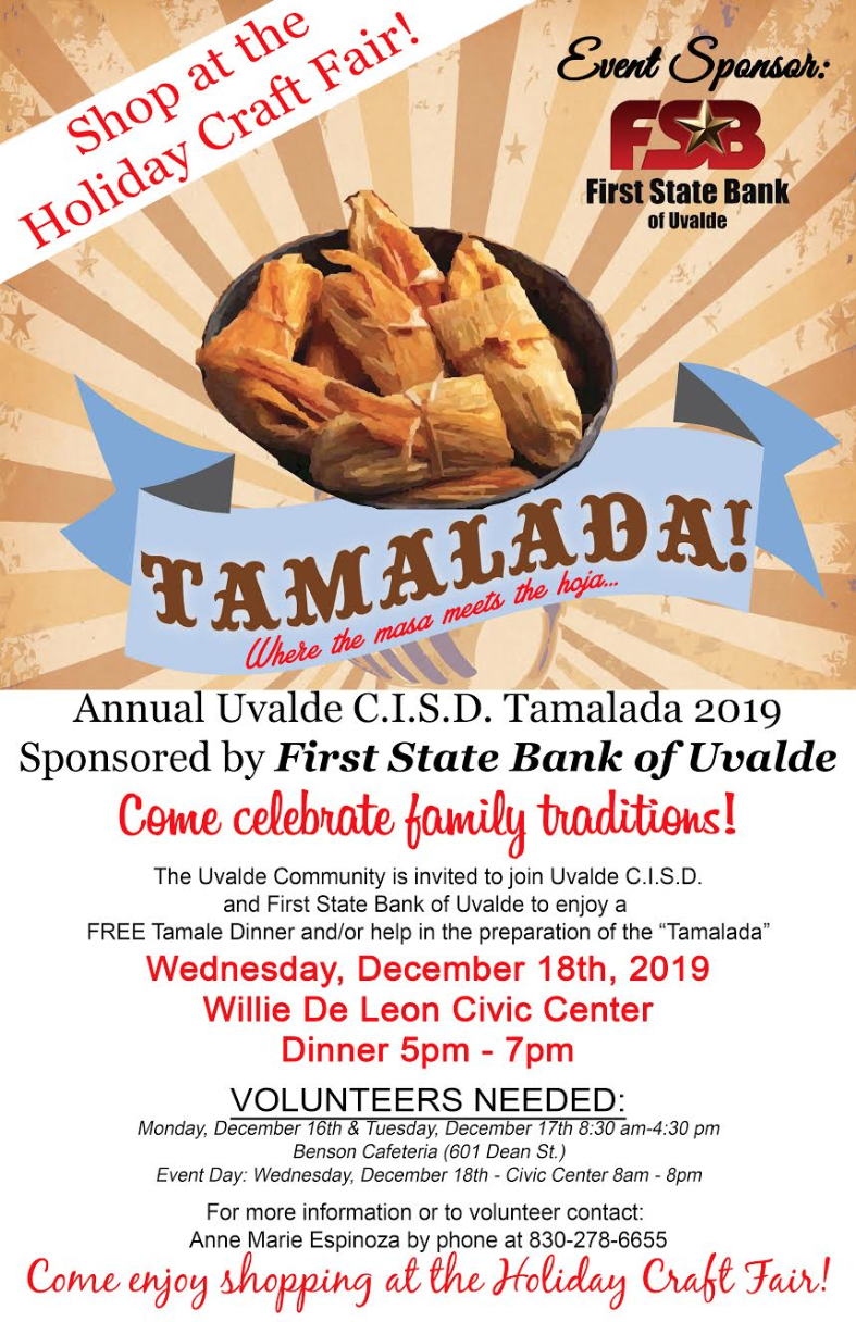 Annual Uvalde CISD Tamalada...December 18th!