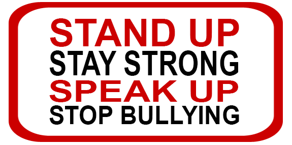 stand up stay strong speak up stop bullying